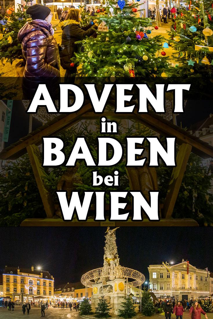 Advent in Baden bei Wien: Erfahrungsbericht zu den Weihnachtsmärkten am Josefsplatz, am Hauptplatz und im Kurpark mit Casino.