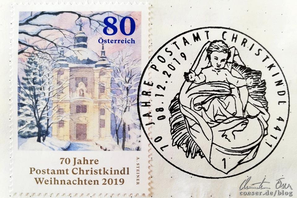 Sonderstempel im Sonderpostamt in Christkindl, Steyr