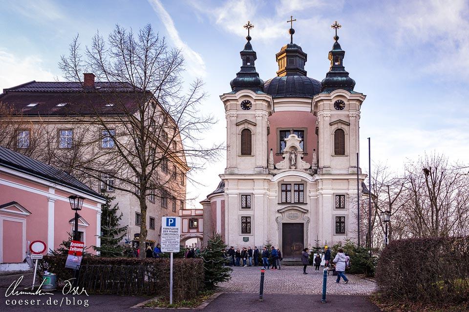 Außenansicht der Wallfahrtskirche in Christkindl, Steyr