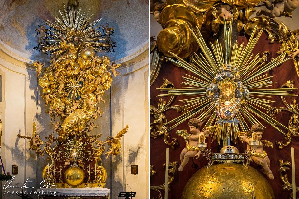 Innenansicht der Wallfahrtskirche in Christkindl, Steyr