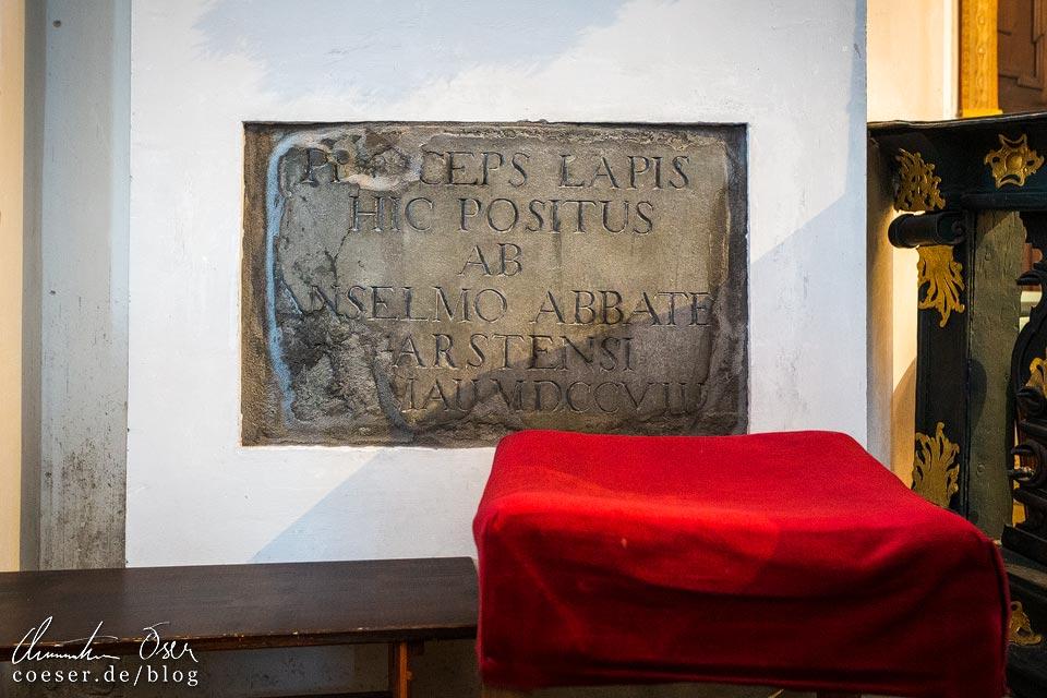 Grundstein in der Wallfahrtskirche in Christkindl, Steyr