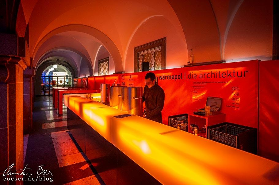 Die Wärmepol-Punschbar in der Kunstuniversität Linz