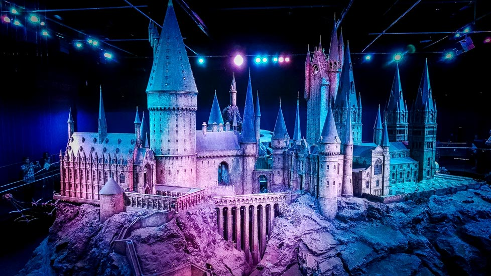 Modell von Schloss Hogwarts in der Harry Potter Warner Bros. Studio Tour London