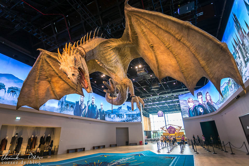 Drache in der Harry Potter Studio Tour London