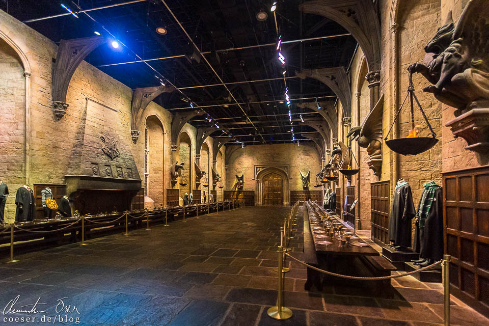 Große Halle von Hogwarts in der Harry Potter Studio Tour London