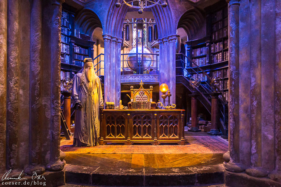 Dumbledores Büro in der Harry Potter Studio Tour London