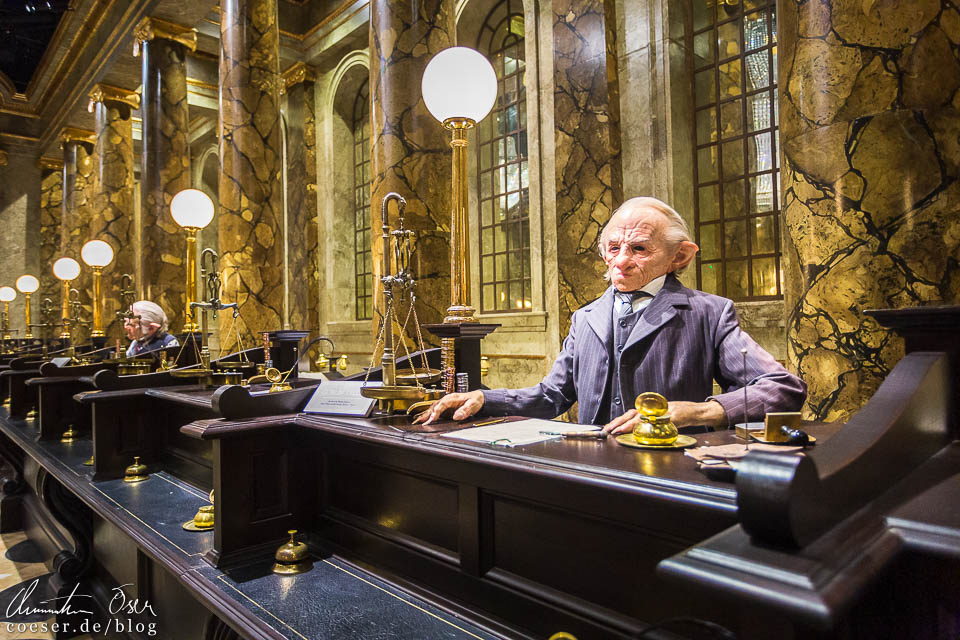 Zauberbank Gringotts in der Harry Potter Studio Tour London