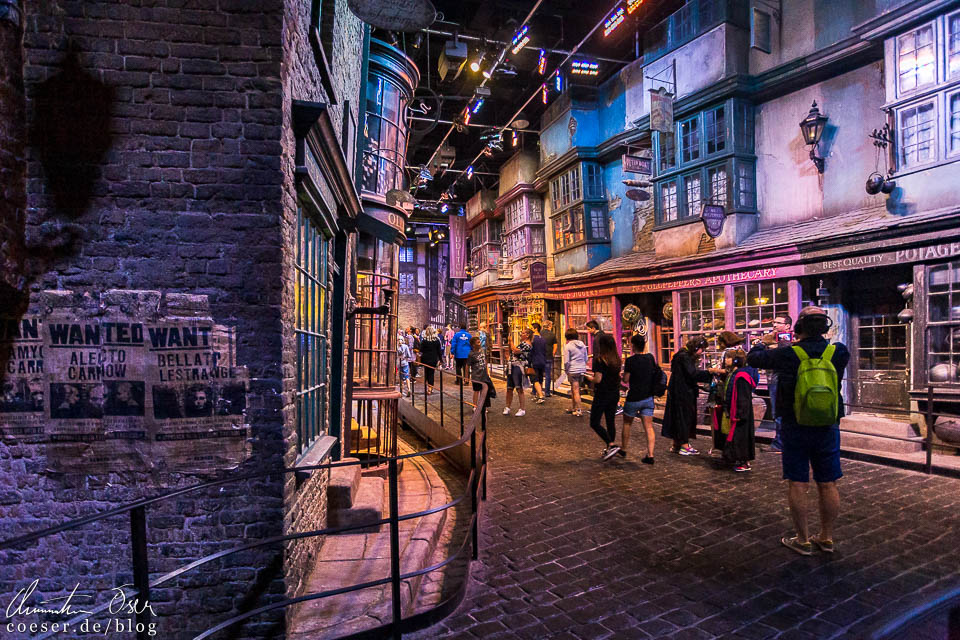 Winkelgasse in der Harry Potter Studio Tour London