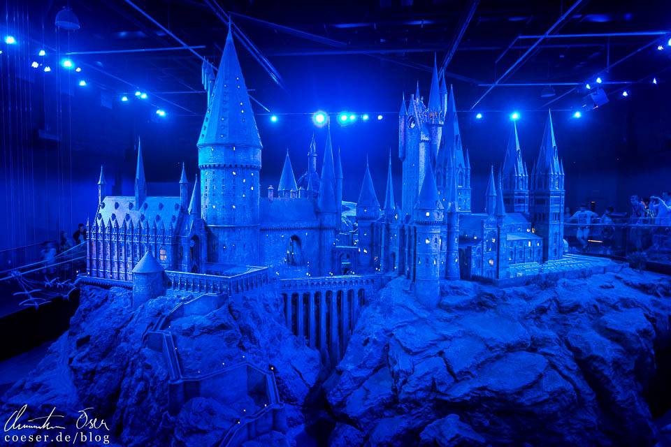 Modell von Schloss Hogwarts in der Harry Potter Studio Tour London