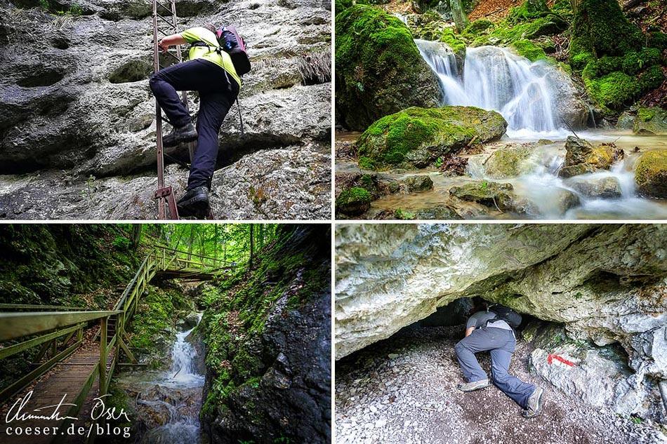 Reisetipps, Reiseinspiration und Fotospots aus der Steinwandklamm, Österreich