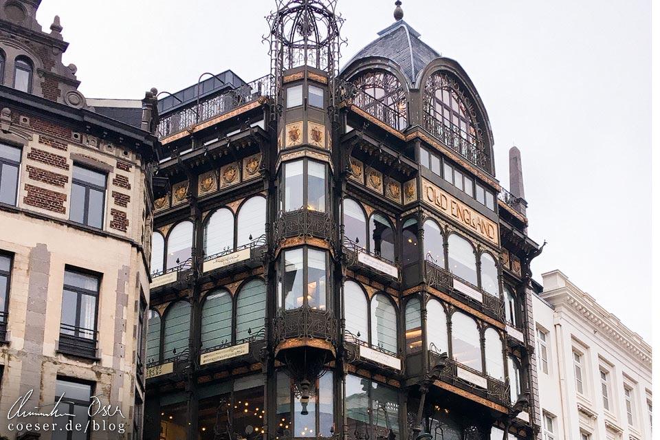 Das Jugendstilgebäude (Art nouveau) Old England in Brüssel