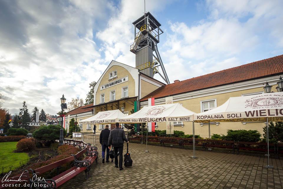 Außenansicht des Salzbergwerks Wieliczka bei Krakau