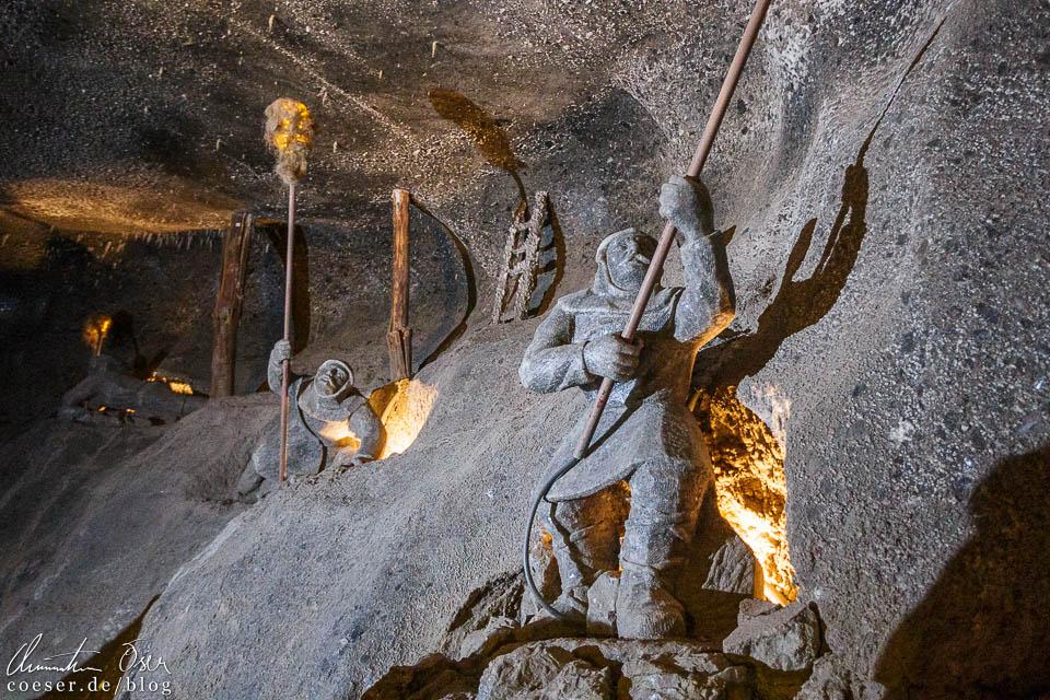 Schaufiguren im Salzbergwerk Wieliczka bei Krakau