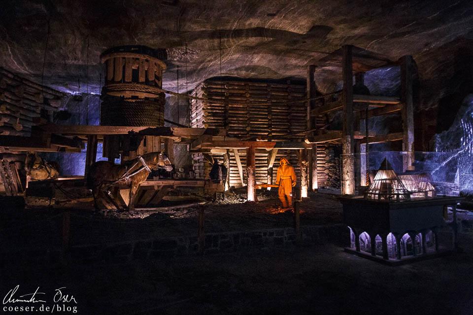 Ausstellung im Salzbergwerk Wieliczka bei Krakau