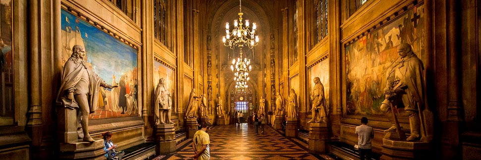 Innenansicht des Palace of Westminster in London