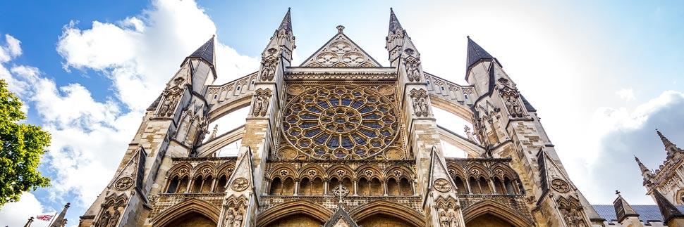 Außenansicht von Westminster Abbey in London
