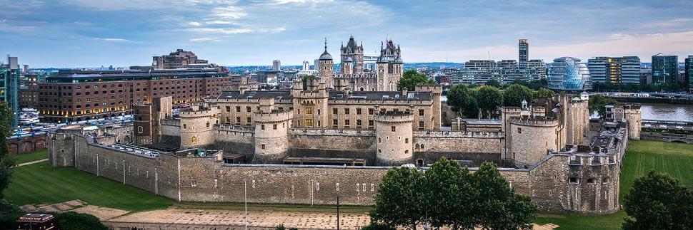 Luftansicht des Tower of London