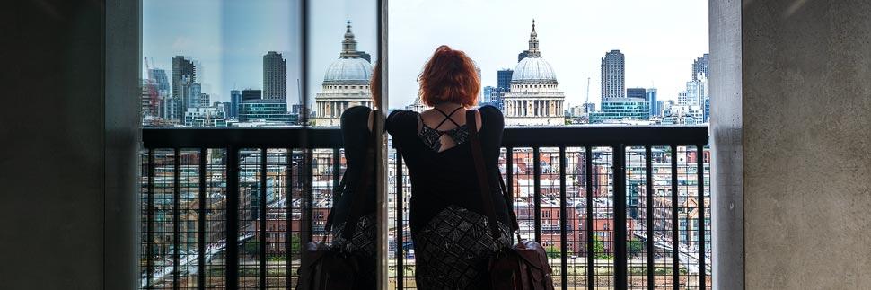 Aussicht vom Tate Museum of Modern Art in London