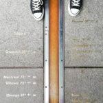 Der Null-Meridian im Greenwich Royal Observatory in London