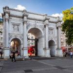 Der Triumphbogen Marble Arch in London