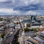 Panorama der Londoner Skyline von der St Paul's Cathedral aus gesehen