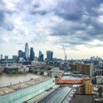 Panorama der Skyline von London von der Aussichtsplattform des Tate Modern aus gesehen