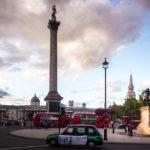 Der Trafalgar Square und die Nelson Column in London