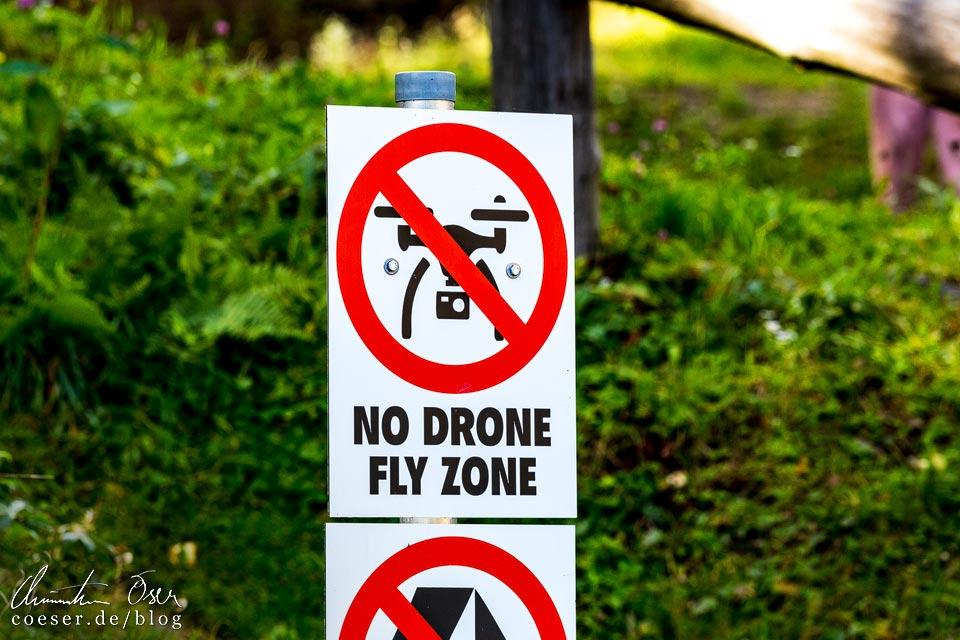 Drohnenverbot am Aussichtsturm Pyramidenkogel nahe Klagenfurt am Wörthersee
