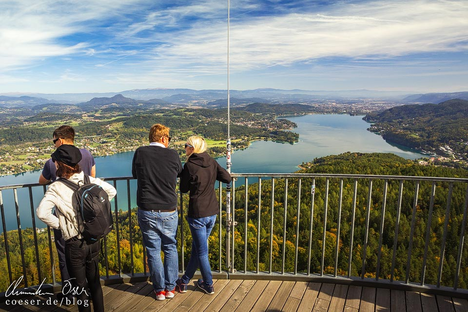 Der Aussichtsturm Pyramidenkogel nahe Klagenfurt am Wörthersee