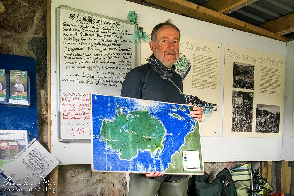 Einweisung in die Wanderung auf Handa Island in Schottland