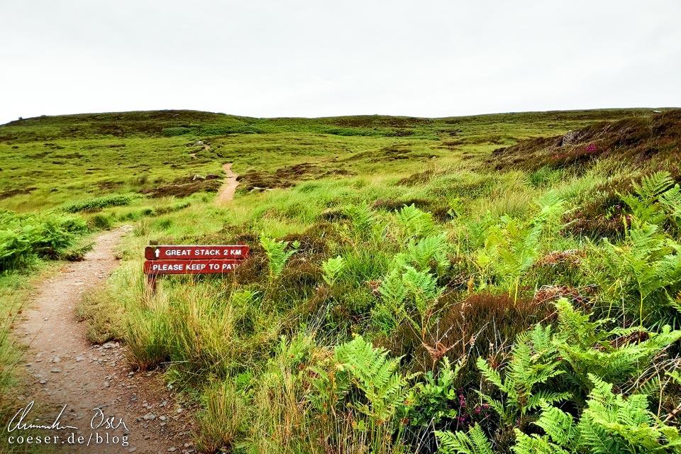 Wanderweg zum Great Stack auf Handa Island in Schottland
