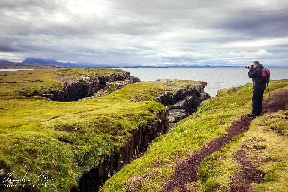 Fotograf Christian Öser auf Handa Island in Schottland