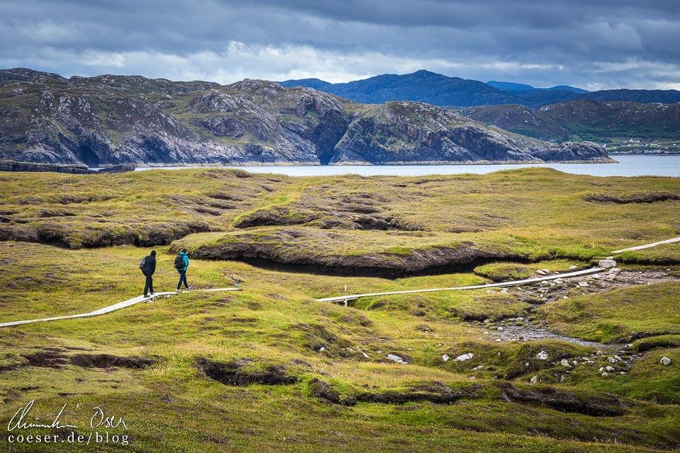 Wanderweg auf Handa Island in Schottland