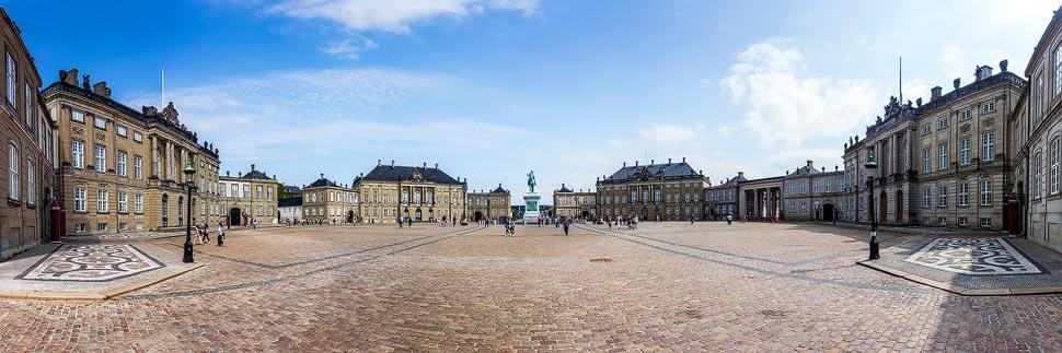 Panorama von Schloss Amalienborg in Kopenhagen