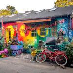 Bunte Häuser in der Freistadt Christiania