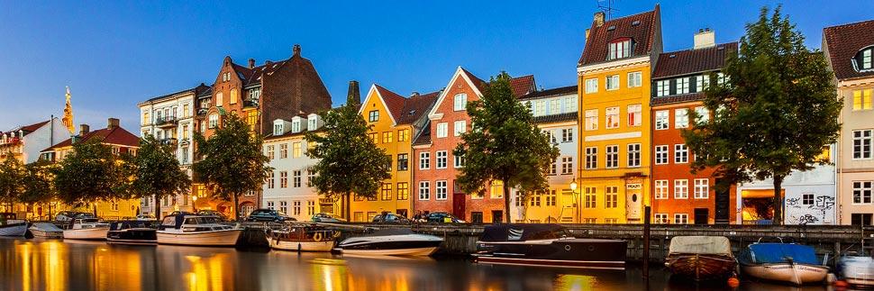 Bunte Häuser in Christianshavn in Kopenhagen