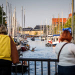 Ein Kanal in Christianshavn in Kopenhagen