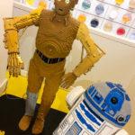 Modell der Star-Wars-Figuren R2D2 und C3PO im LEGO-Shop in Kopenhagen