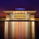 Beleuchtete Oper von Kopenhagen