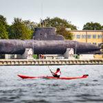 Altes U-Boot während einer Kanalrundfahrt durch Kopenhagen