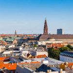 Panorama von Kopenhagen, gesehen von der Aussichtsplattform im Rundetaarn