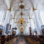 Innenansicht der Dreifaltigkeitskirche (Trinitatis Kirke) in Kopenhagen