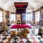 Der Thron für Audienzen im Rittersaal im Schloss Rosenborg