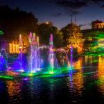Lichtshow im Vergnügungspark Tivoli