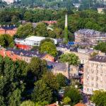 Blick vom Turm der Erlöserkirche (Vor Frelsers Kirke) auf die Freistadt Christiania
