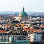 Blick vom Turm der Erlöserkirche (Vor Frelsers Kirke) auf die Innenstadt von Kopenhagen