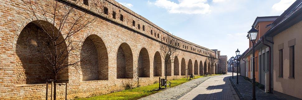 Die alte Stadtbefestigung in Trnava