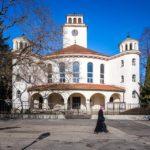 Außenansicht der evangelischen Kirche in Trnava