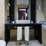Bad im Doppelzimmer im Hotel Holiday Inn Trnava