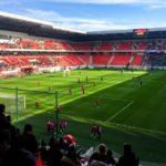 City Arena (Štadión Antona Malatinského) vor dem Spiel Spartak Trnava - Slovan Bratislava